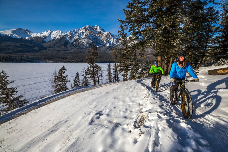 Fat biking- couple