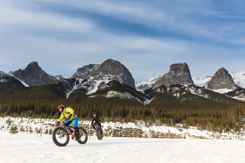 fat biking - two bikers