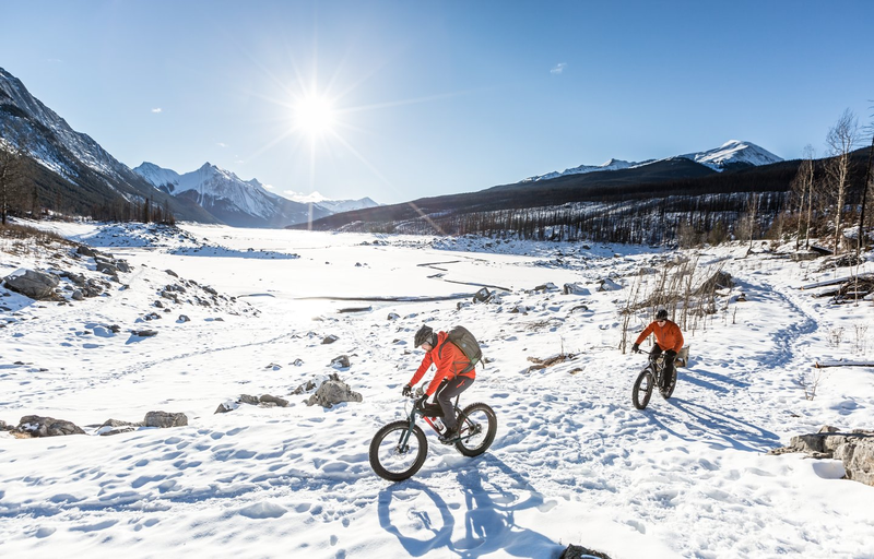 fat bike - frozen lake